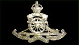 Badge of the Royal New Zealand Artillery. Motto: Quo fas et glory ducunt (Where fate and glory lead).